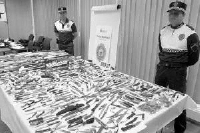 La incautación de armas blancas en Pamplona se duplica en un año