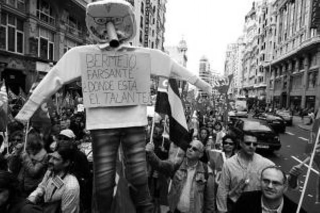 Miles de funcionarios de Justicia protestan en Madrid