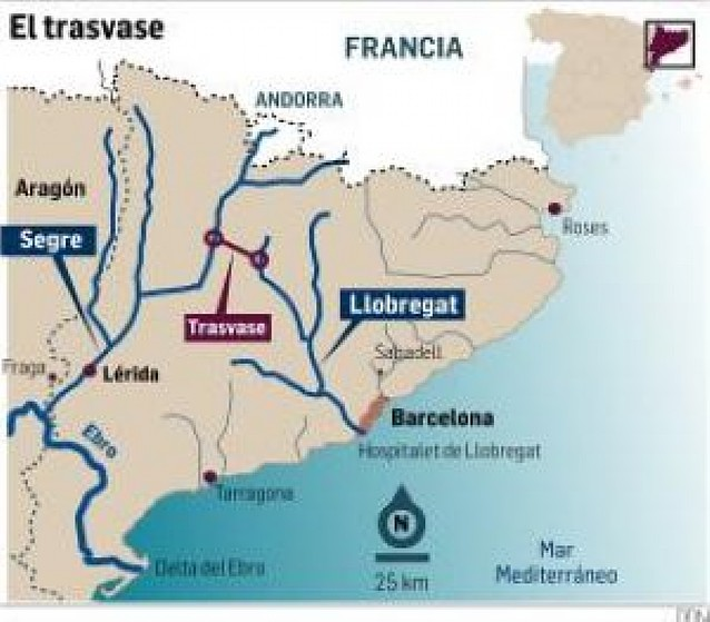 La Generalitat pide el trasvase del río Segre