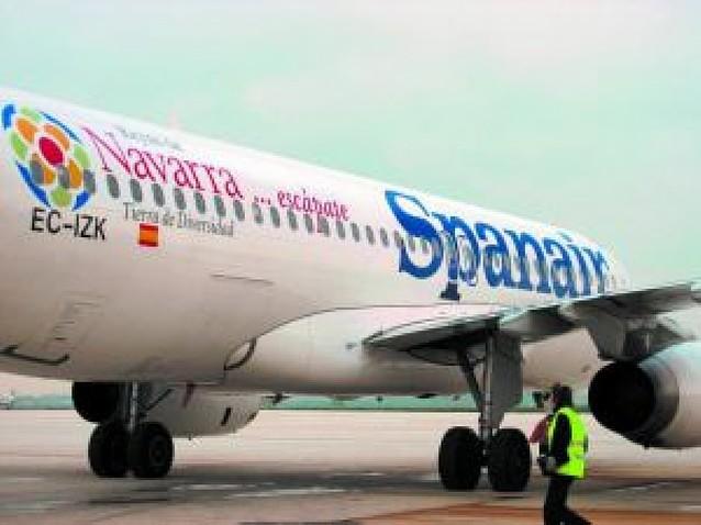 Spanair suspenderá la ruta Pamplona-Madrid a partir de mayo