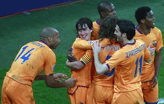 El Barça encara el pase a semifinales gracias a un gol de Bojan