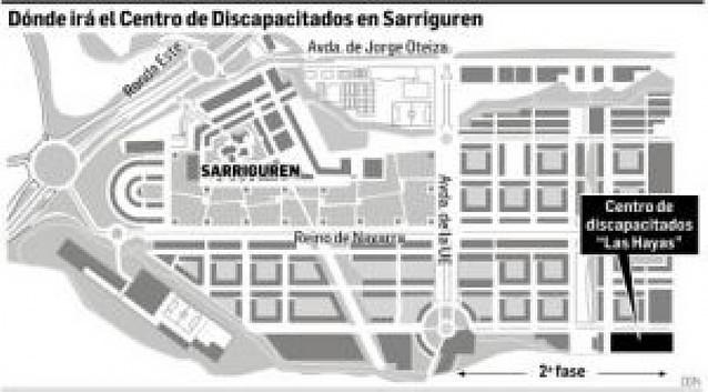 Un nuevo centro para 60 discapacitados en Sarriguren sustituirá a Santa Mª de Burlada
