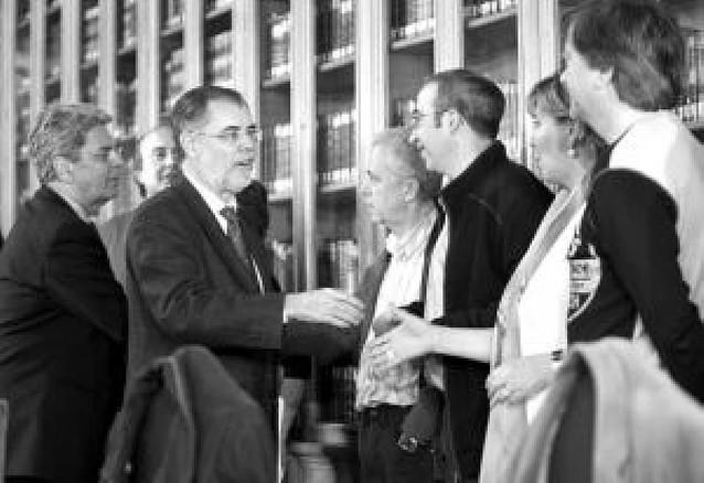 Reunión de Bermejo con los funcionarios de Justicia en huelga