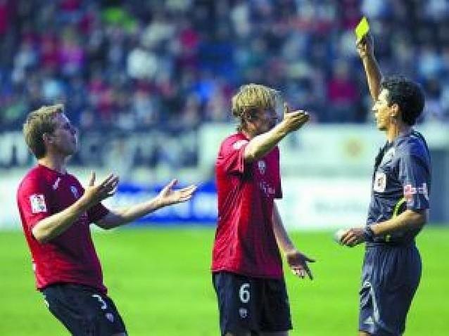 Dolorosa bofetada de Osasuna ante el Recreativo (0-1)