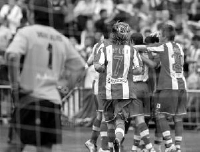 Nueve goles en el Calderón