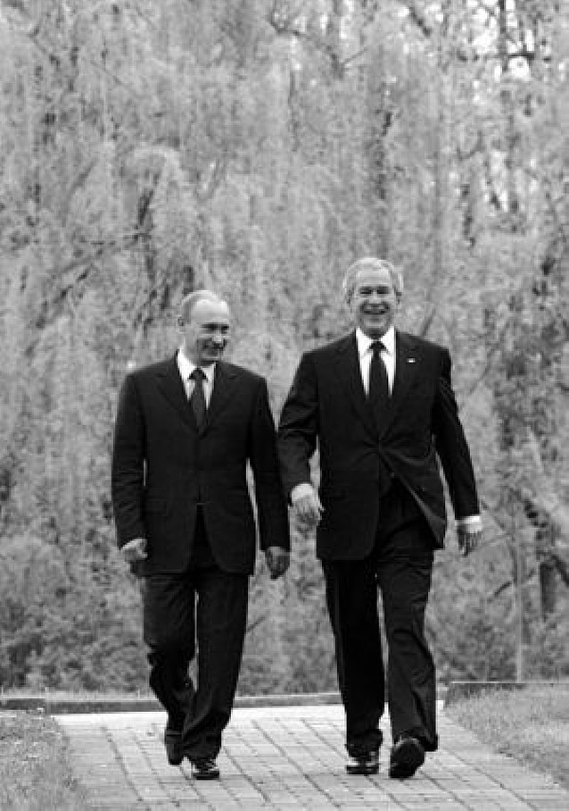 Bush y Putin mantienen sus diferencias durante su reunión bilateral en Sochi