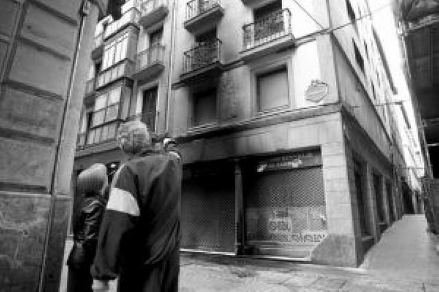 """Lanzan cócteles molotov contra un """"batzoki"""" y un cajero en Bilbao"""