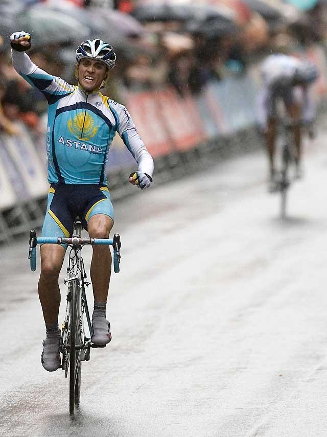 Alberto Contador se exhibe ya en la primera etapa de la Vuelta al País Vasco