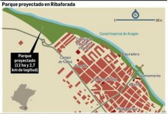 Ribaforada creará un parque de 12 hectáreas y 2,7 km en la orilla del Canal Imperial