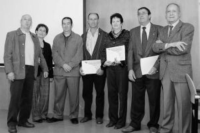 Los donantes de Falces homenajean a cinco socios