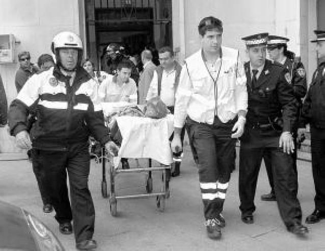 Herido un hombre por una explosión de gas tras un escape de butano