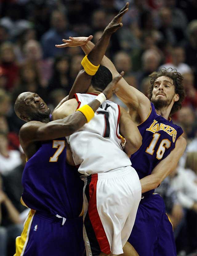 El regreso de Gasol al doble-doble no evita la derrota de Lakers contra Portland (112-103)