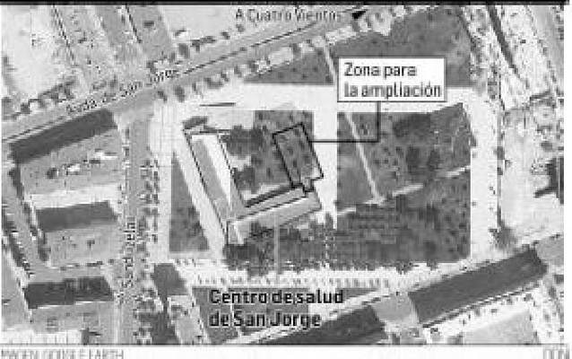 El Gobierno pide una parcela para ampliar el centro de salud del barrio de San Jorge