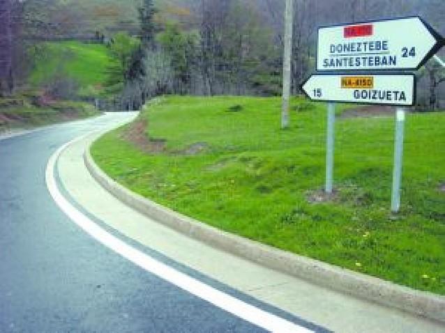 Solicitan la mejora de carretera de Leitza a Goizueta