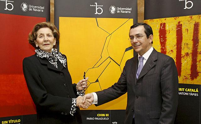 La UN firma el convenio de donación de las obras de arte de María Josefa Huarte