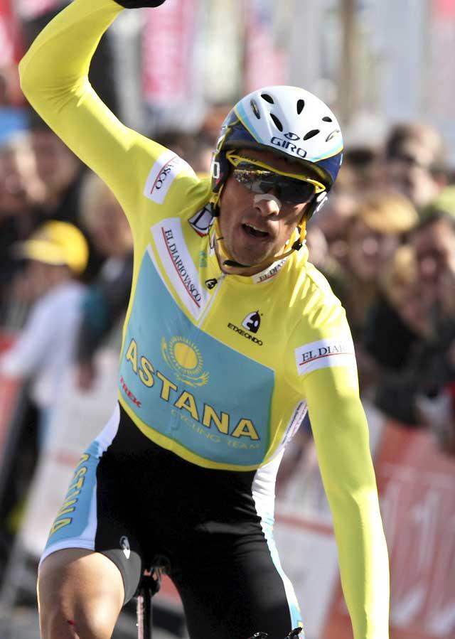 Contador arrasa en la crono y se lleva la victoria final en la Vuelta al País Vasco