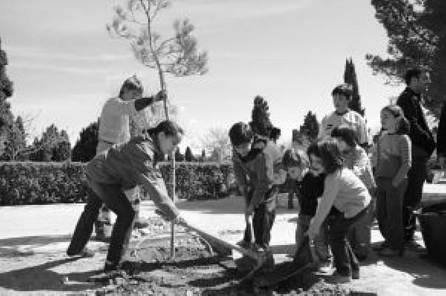 Alrededor de 500 niños de Tudela y Cintruénigo celebran el Día del árbol