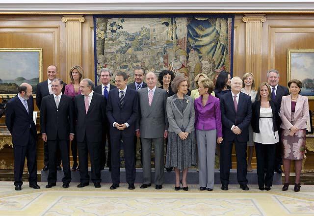 Los diecisiete ministros del nuevo Gobierno prometen sus cargos ante el Rey