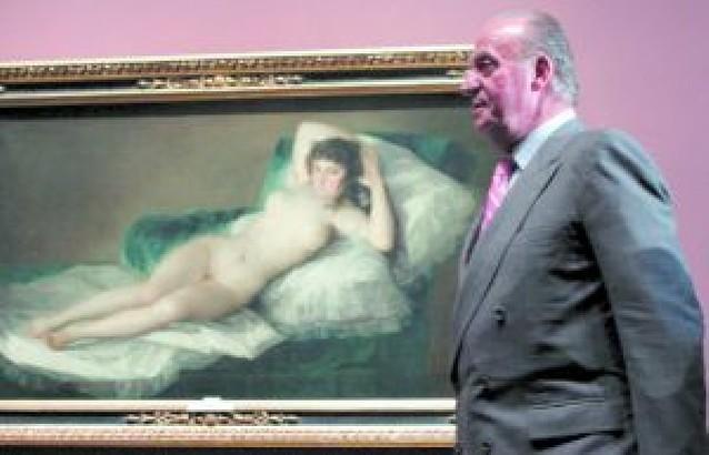El rey inaugura la gran exposición de Goya