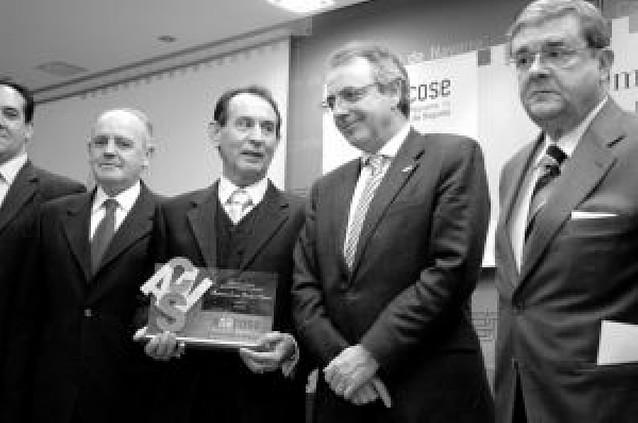 El perito Francisco Javier Remírez, galardonado por sus 38 años de labor profesional