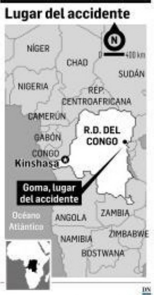 Al menos 75 muertos al estrellarse un avión sobre un barrio habitado en Congo