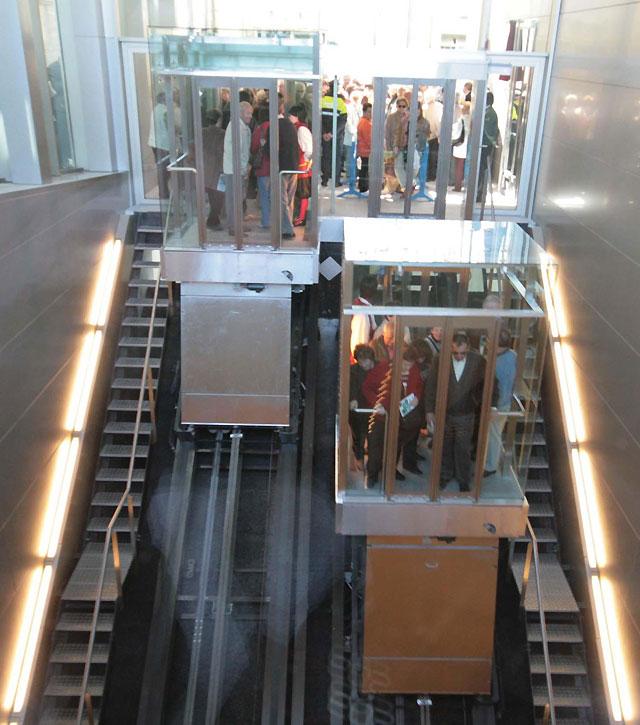 Más de 60.000 usuarios en la primera semana de los ascensores que unen la Rochapea y el Casco Antiguo