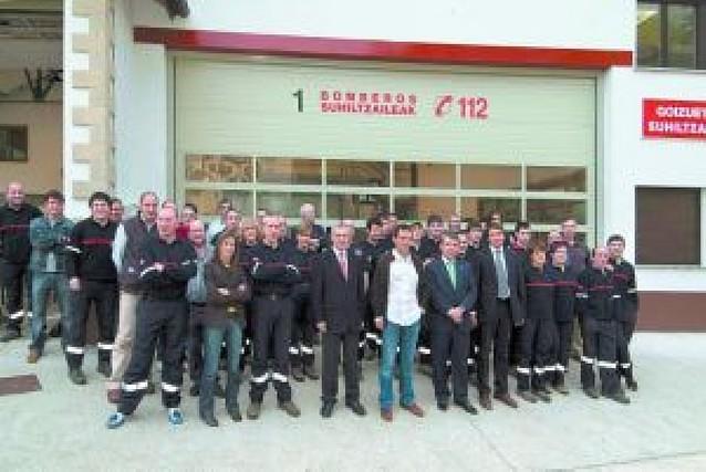 25 bomberos voluntarios para el nuevo parque de Goizueta