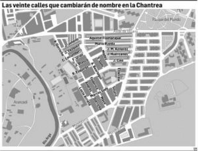 UPN no recurrirá y cambiará los nombres de 20 calles de la Chantrea tachados de franquistas