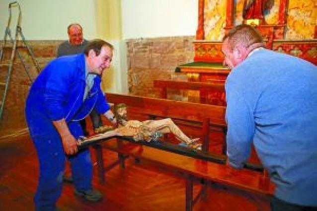 La iglesia de Mues se abre hoy al culto después de cuatro meses de obras