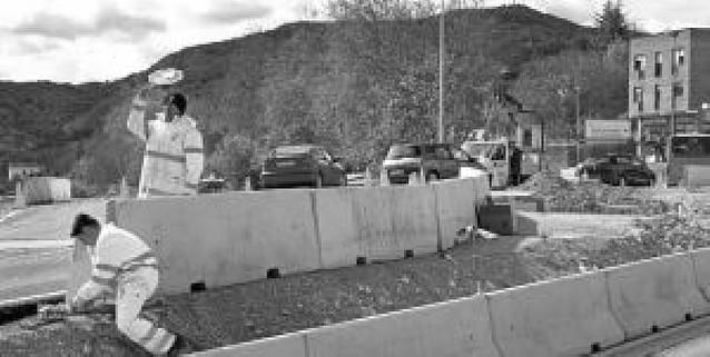 Las obras en curso dan un respiro al empleo de la construcción en Estella