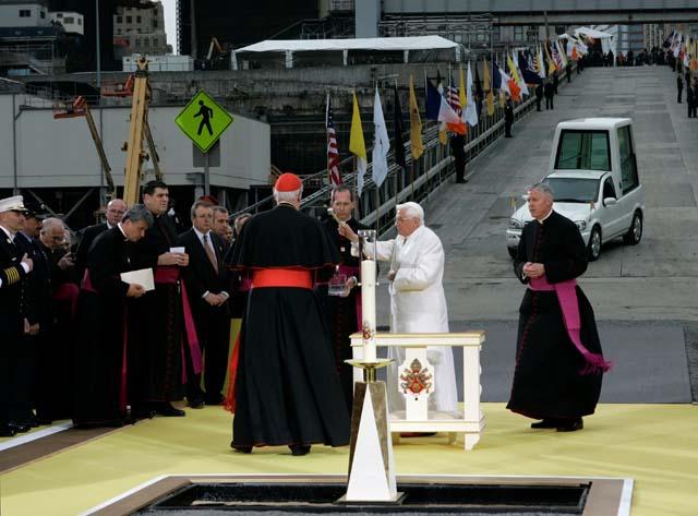 El Papa rezó en la Zona Cero de Nueva York por la paz y la desaparición del odio