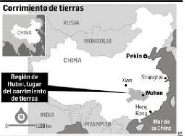 Al menos 200 personas atrapadas por un corrimiento de tierras en el centro de China
