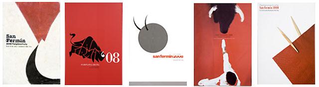 Seleccionados los 5 carteles finalistas para anunciar los Sanfermines