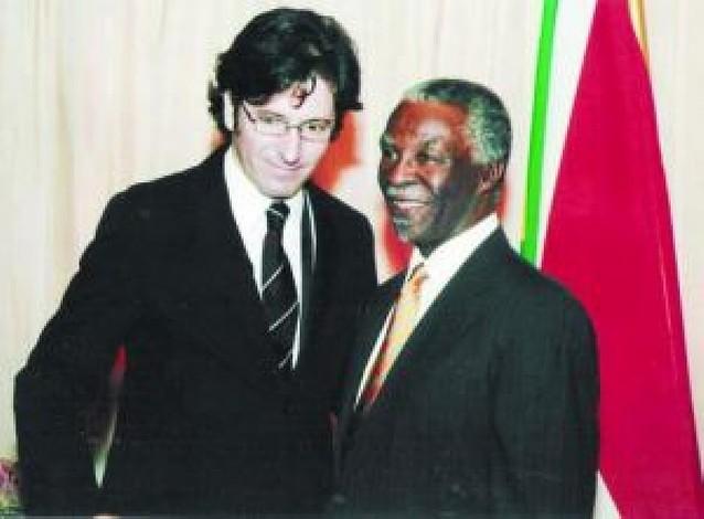 El diputado Moscoso, recibido por el presidente de Suráfrica