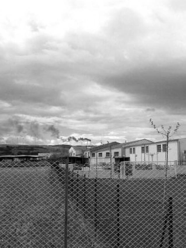 Incendio en un molino de viento de Peralta
