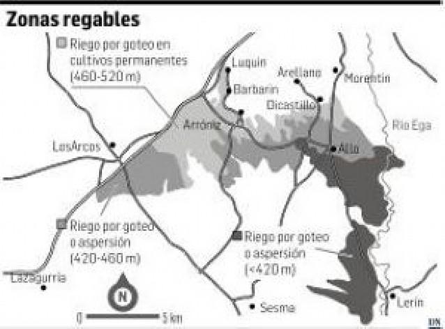 Ocho localidades de la comarca se repartirán las 6.000 hectáreas de la nueva red de riego