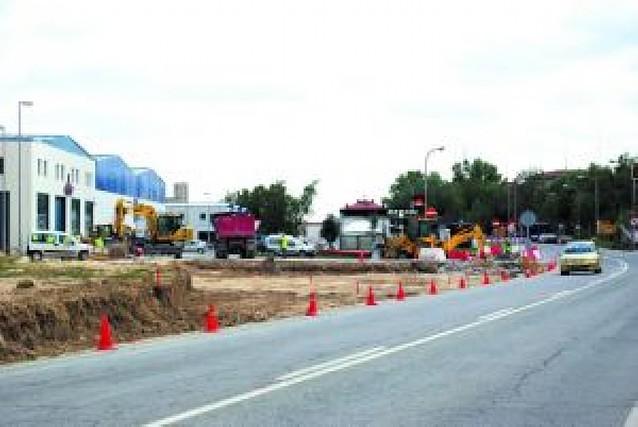Las obras de las rotondas de Tafalla no cortarán el tráfico por su acceso norte