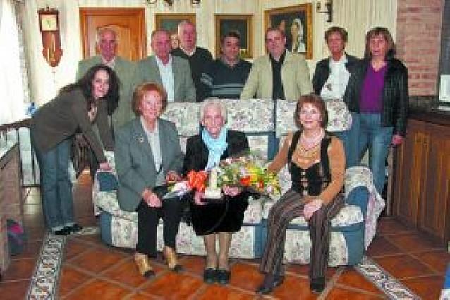 La cascantina Luisa Jiménez Melero celebra su cien cumpleaños