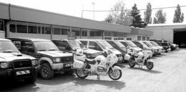 Recuperan en Navarra 13 furgonetas y todoterrenos robados en Bélgica