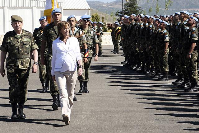 El jefe de las tropas españolas en el Líbano plantea a Chacón la conveniencia de contar con nuevos vehículos