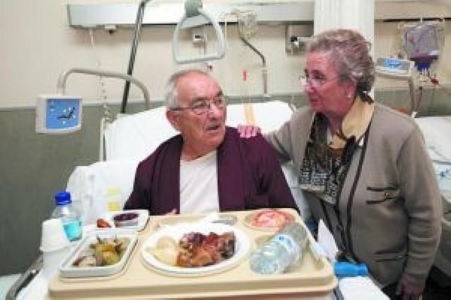 Menú de verdura en el hospital