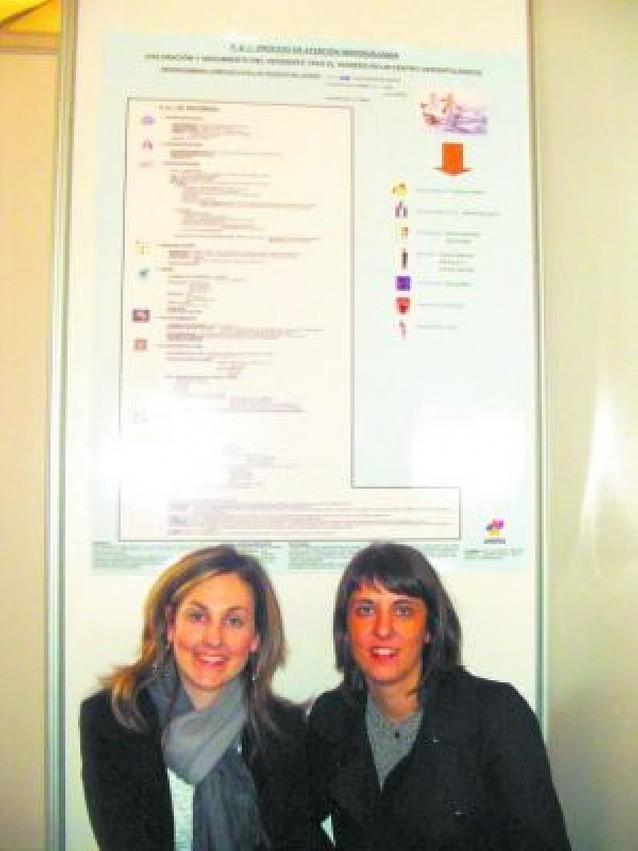 Enfermeras de Amma Mutilva presentan un panel en Valencia