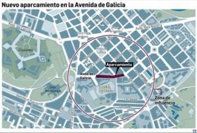 El parking de la avenida de Galicia tendrá 800 plazas en cuatro plantas