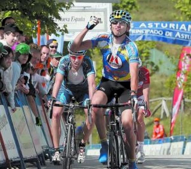 Koldo Gil acaba segundo en la Subida al Naranco