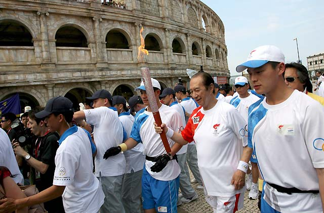La antorcha olímpica recorre Macao (China)