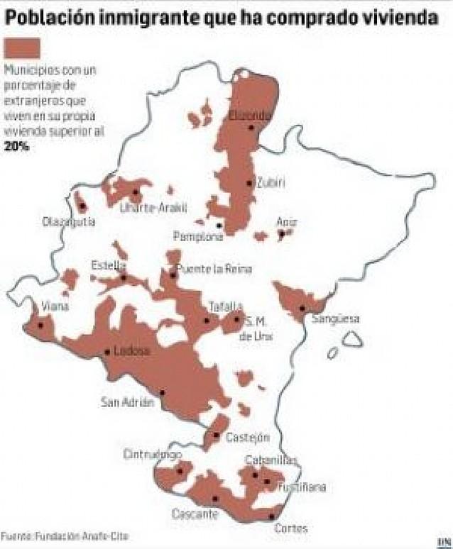 Más de siete mil extranjeros sufren en Navarra situaciones de hacinamiento