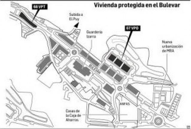 Las 135 viviendas protegidas tendrán prioridad en el nuevo bulevar de Estella