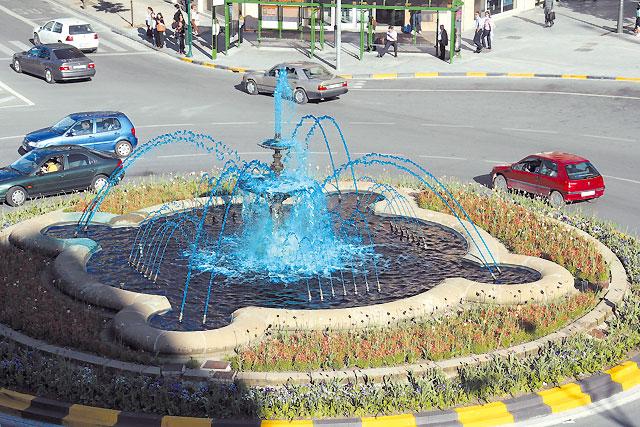 Fuentes de agua azul Europa