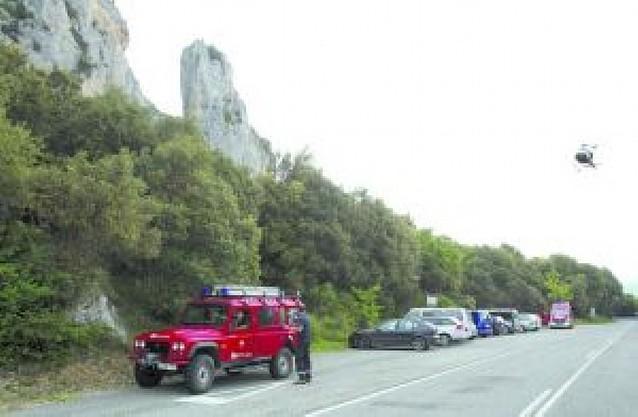Herido grave un escalador en las Peñas de Etxauri