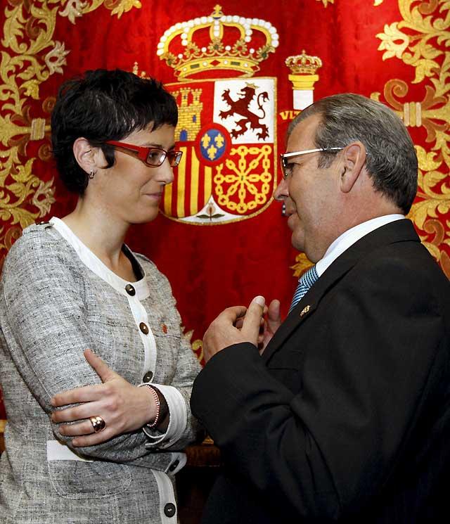 Elena Salgado defiende en Pamplona la importancia de los delegados del Gobierno